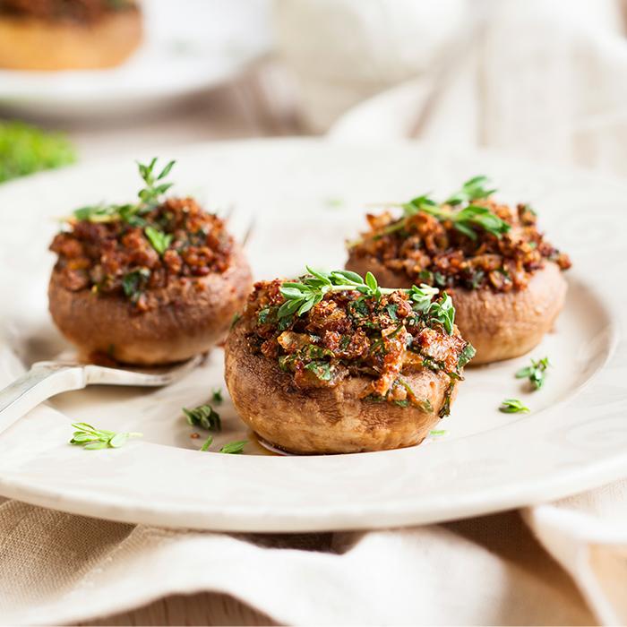 Stuffed Chorizo Mushrooms recipe