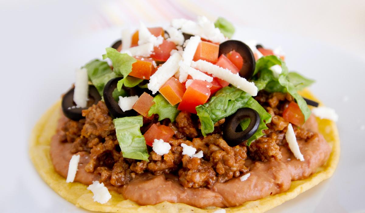El Popular Chorizo & Refried Beans Tostada Recipe