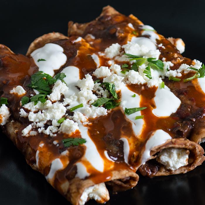 Vegetarian Mole Enchiladas Recipe