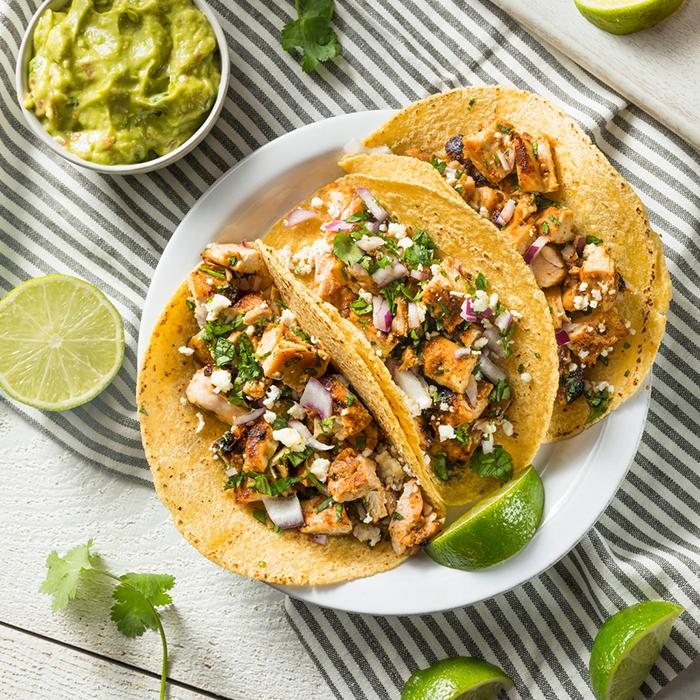 Chorizo & Chicken Street Tacos recipe