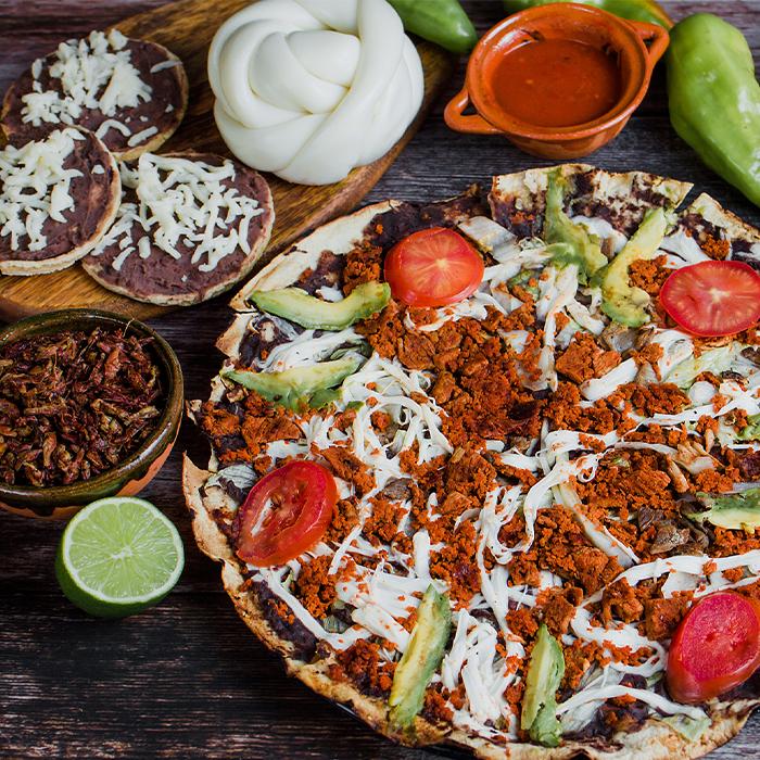 Crispy Chorizo and Mole Tlayuda Recipe