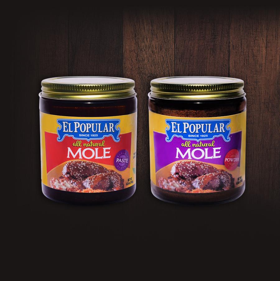 El Popular Mole Paste and Powder Jar Set, bigger